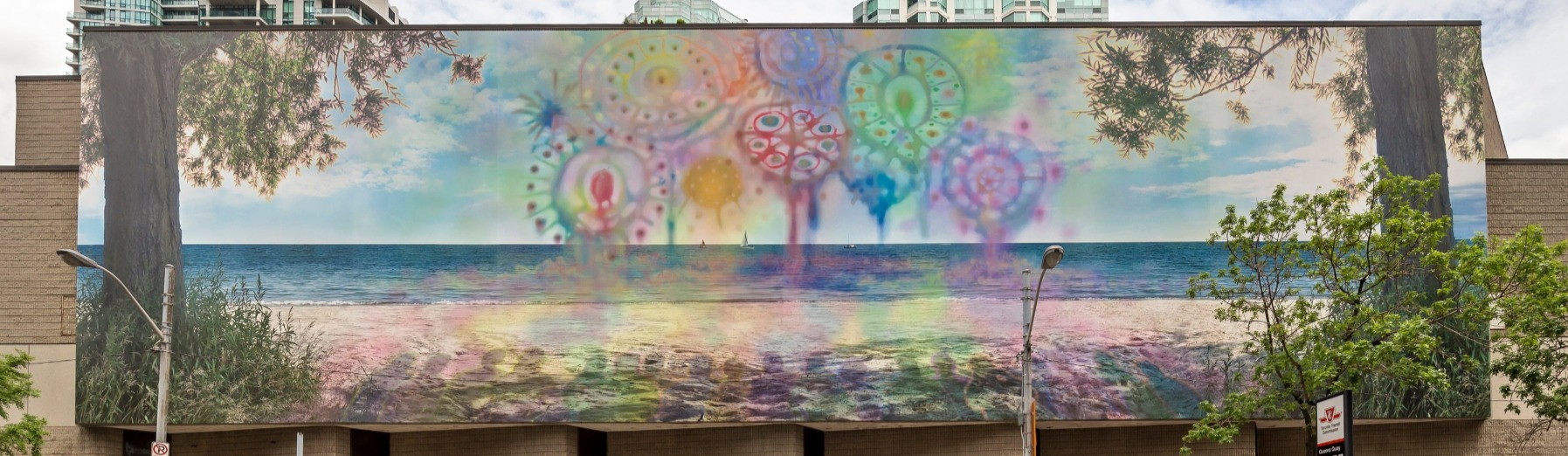 Mural outside Westin Harbour hotel