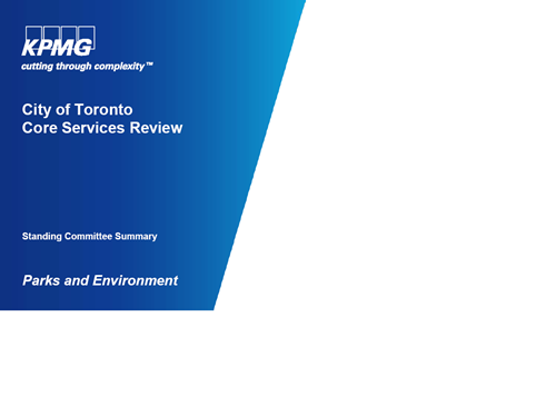 City of Toronto Core Services Review