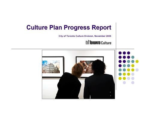 Culture Plan Progress Report (2005)